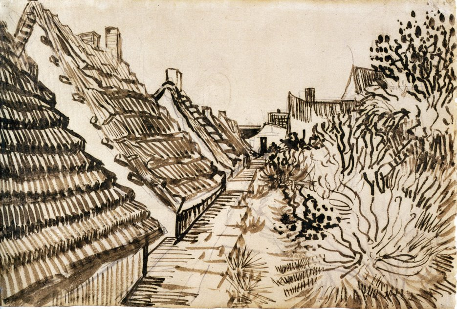 Line Drawing By Vincent Van Gogh : Welcome to falling rock national park van gogh