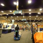 Dozens of trucks buzzed up and down aisles, delivering product to the booths.