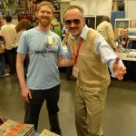My friend and fellow Obie, Kevin McShane dresses as Fake Stan Lee and roams the convention floor.