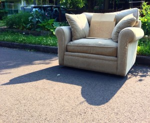Discarded couch 7-1-13