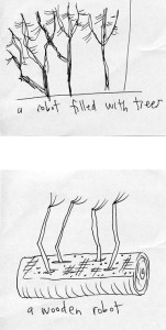 friday-robot-sketches-wood-tree