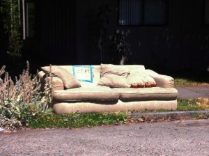 discarded couch 8-3-13