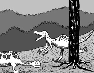 dinosaurs-in-forest