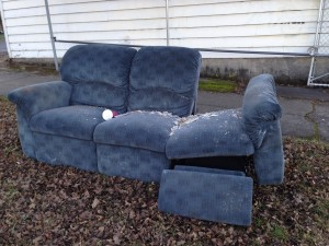 Discarded couch 1-6-13