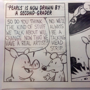 Bill Watterson's panels for Pearls Before Swine.