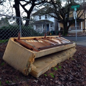 discarded couch 2-6-15 2