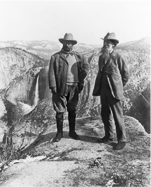 Teddy Roosevelt and John Muir, the fathers of the National Park Service